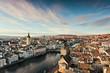canvas print picture - Blick vom Grossmünster auf Zürich