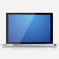 Modern laptop vector icon