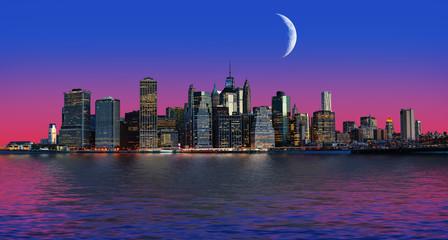 Manhattan at moon light