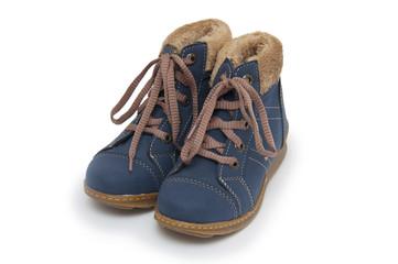 Blue children`s boots