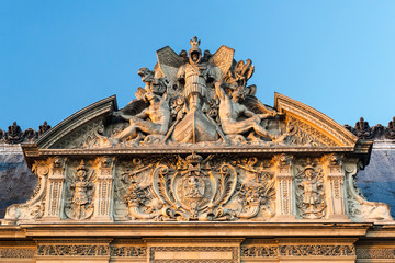 Detail of the exterior of the Louvre