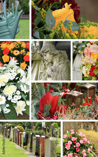 Collage Friedhof