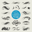 Set of vector decorative design elements and page decor