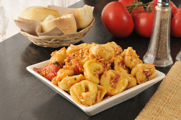Tortellini with Roasted Tomato Pesto