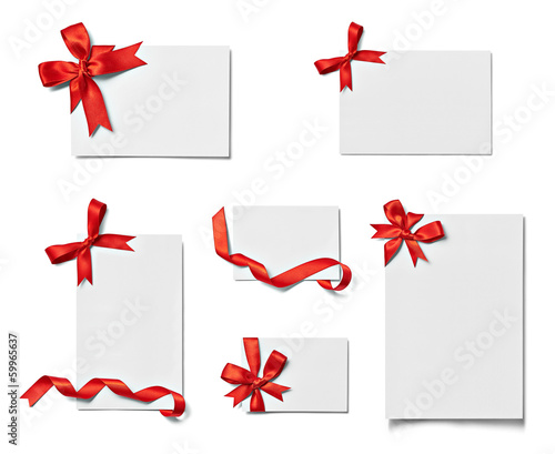 ribbon bow card note chirstmas celebration greeting