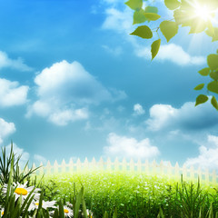 Country view, abstract environmental backgrounds for your design