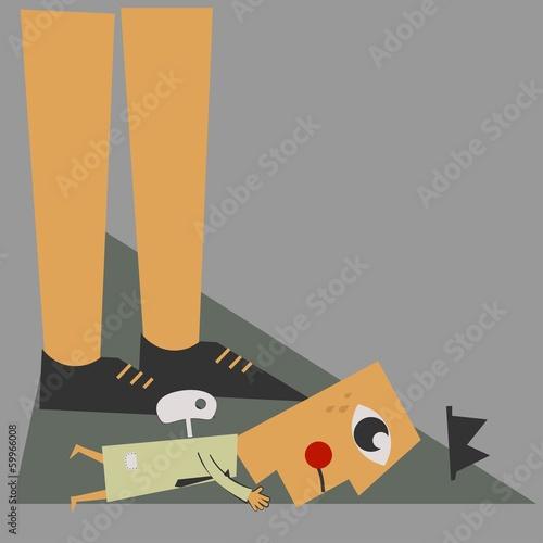 Broken businessman