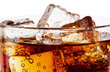 Fragment of glass cola with ice - 59966276