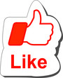 Red like thumbs up button