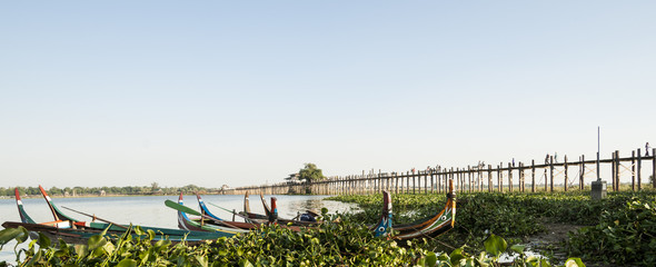 U Bein Bridge, Myanmar.
