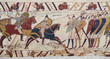 Leinwanddruck Bild - Bayeux tapestry - Norman invasion of England