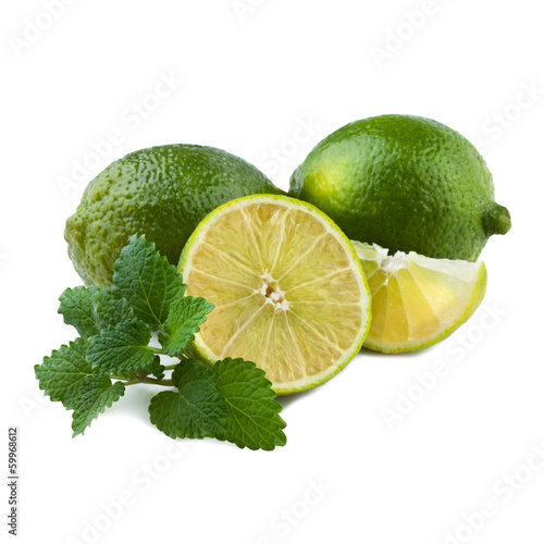 Fresh Lime with Mint Leaf