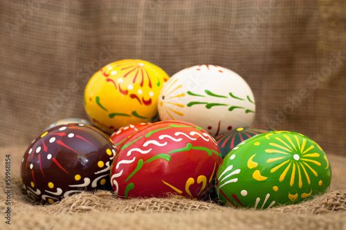 Old style Easter eggs