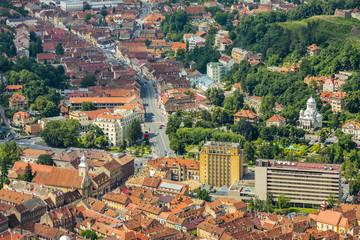Brasov aerial view, Romania