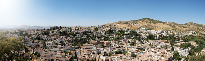 Panoramic of Granada, Spain