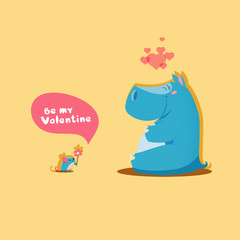 Valentines day - cute pair of animals