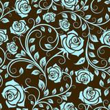 Fototapety Antique scrolling rose seamless pattern