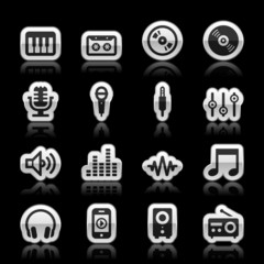 Music icons, vector illustration