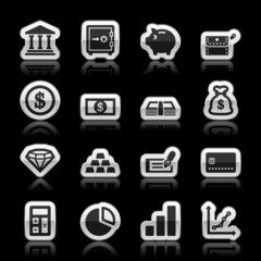 Finance icons, vector illustration
