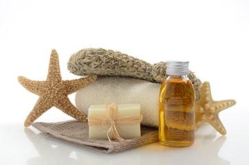 Wellness Schröpfen Öl Seife Seesterne