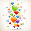 Vector Illustration of Colorful Heart Balloons