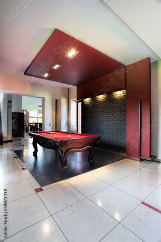 Elegant pool hall
