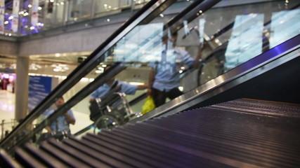 Escalator Walkway In Airport