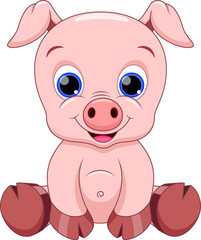 baby pig cartoon
