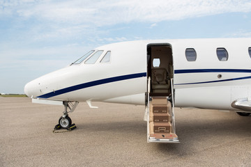 Business Jet With Open Door