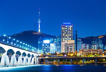 Han River and Bridge in Seoul