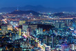 Downtown skyline of Seoul
