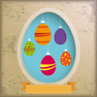Vintage Background Egg Hole