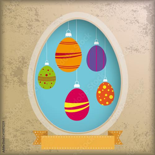 Vintage Background Egg Hole