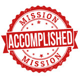 Mission accomplished stamp poster