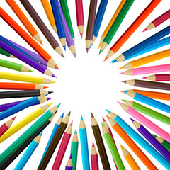 Vector Illustration of Colored Pencils