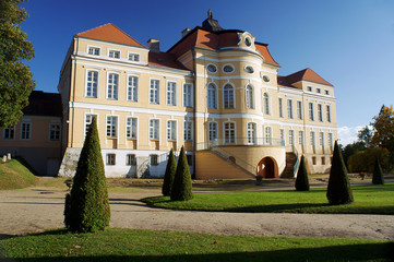 park and baroque palace  in Rogalin, Poland