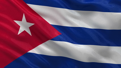 Flag of Cuba - seamless loop