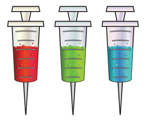 Cartoon syringes rgb