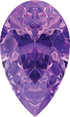 Amethyst Pear Shape