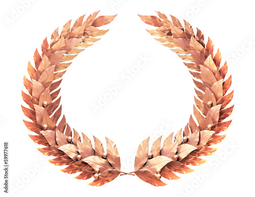 Bronze wreath of laurel leaves