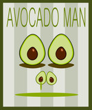 funny avocado face