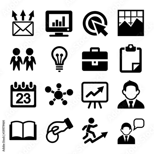 Marketing, SEO and Development icons set