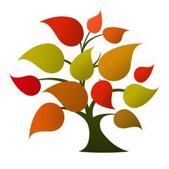Tree logo (autumn colors)