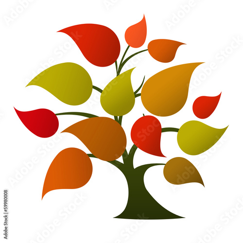 Tree logo (autumn colors)