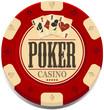 Retro poker chip