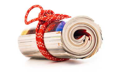 role of newspapers with red rope