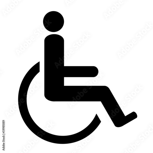 Handicapped - vector icon isolated on white background.