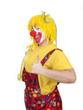 Clown zeigt Daumen hoch