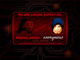 Hacker of Special cyber agent Anonymous ID card