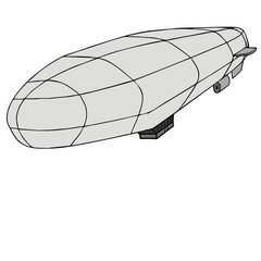 Airship vector drawing